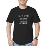 Book Wine Peace Atheist Men's Fitted T-Shirt (dark