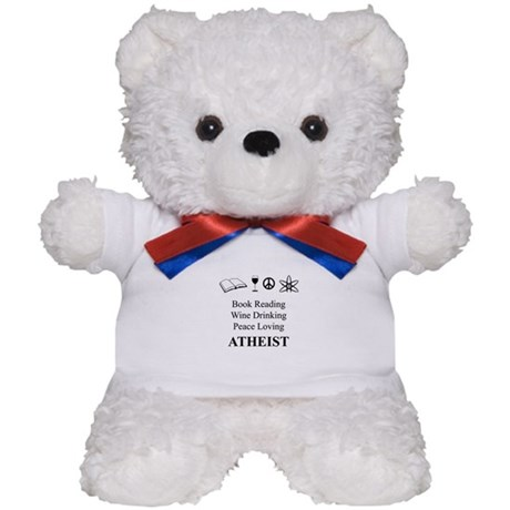 Book Wine Peace Atheist Teddy Bear