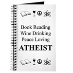 Book Wine Peace Atheist Journal