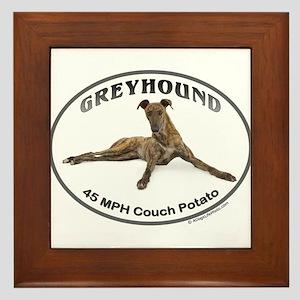 GVV Greyhound Couch Potato Framed Tile