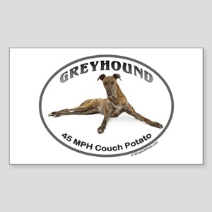 GVV Greyhound Couch Potato Sticker (Rectangle)
