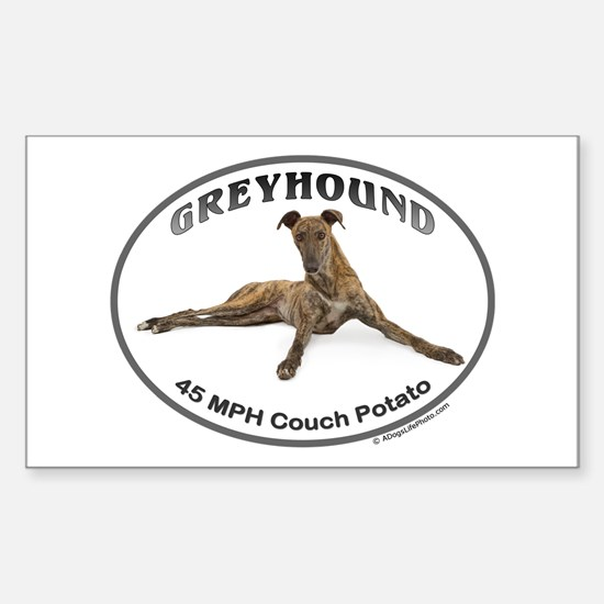 GVV Greyhound Couch Potato Sticker (Rectangle)