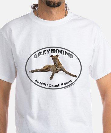 GVV Greyhound Couch Potato White T-Shirt