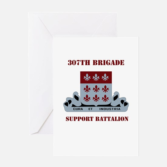 DUI - 307th Bde - Support Bn with Text Greeting Ca