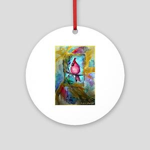 cardinal, bright, Ornament (Round)
