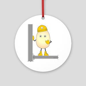 Construction Egghead Ornament (Round)