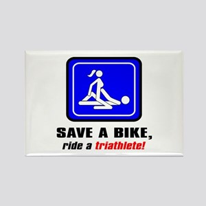 """Save a bike..."" Rectangle Magnet (10 pack)"