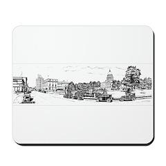 Old Boise Black Panoramic Mousepad
