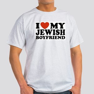 I Love My Jewish Boyfriend Ash Grey T-Shirt