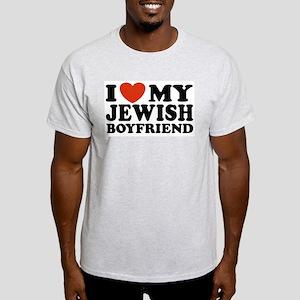 I Love My Jewish Boyfriend Ash Grey T-Shirt