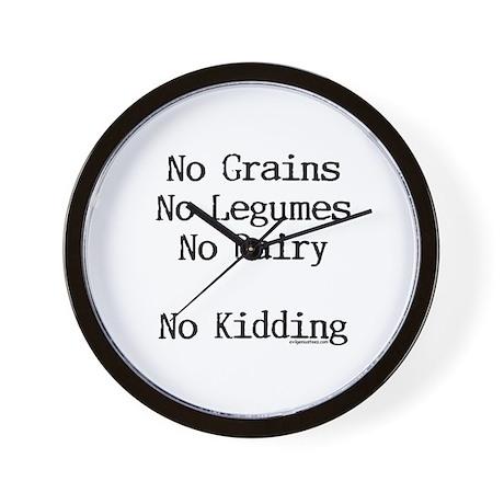 no grains no kidding paleo Wall Clock
