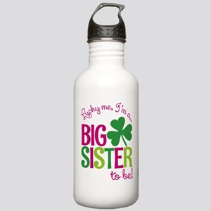 St. Patrick's Day Big Sister to be Water Bottle