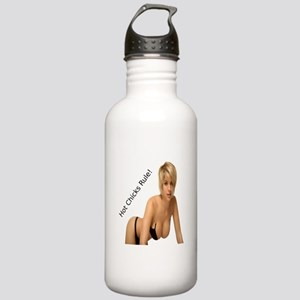 """""""Hot Chicks Rule!"""" Stainless Water Bottle 1.0L"""