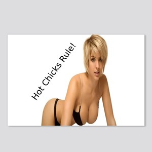"""""""Hot Chicks Rule!"""" Postcards (Package of 8)"""