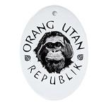 """""""Orang Utan Republik"""" Oval Ornament"""