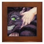 Cheshire Cat Framed Tile