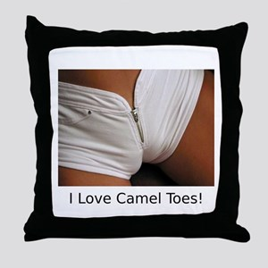 """I Love Camel Toes!"" Throw Pillow"