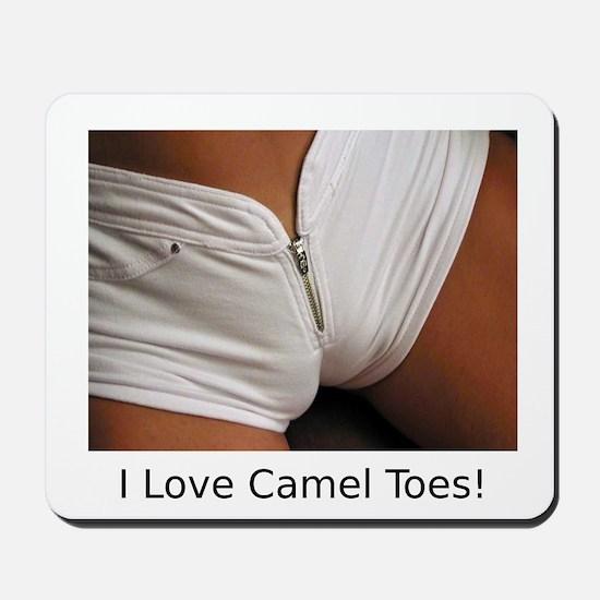 """I Love Camel Toes!"" Mousepad"