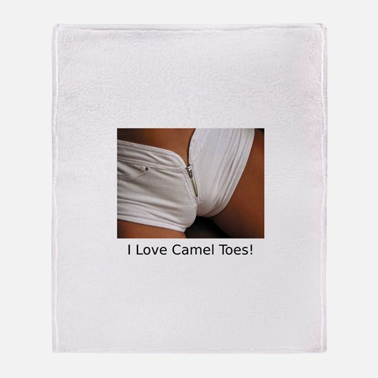 """I Love Camel Toes!"" Throw Blanket"