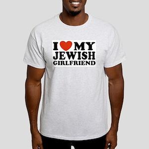 I Love My Jewish Girlfriend Ash Grey T-Shirt
