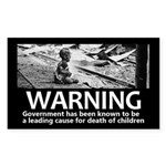 Government Warning Sticker (Rectangle 50 pk)