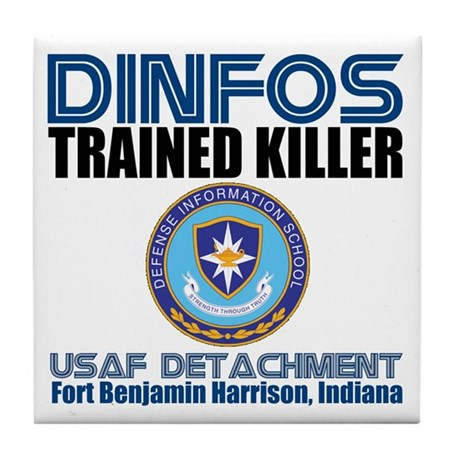 DINFOS Air Force Tile Coaster
