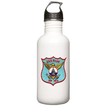 USS BLUE Stainless Water Bottle 1.0L