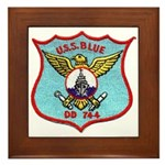 USS BLUE Framed Tile