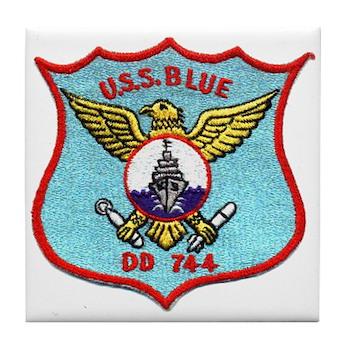 USS BLUE Tile Coaster