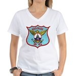 USS BLUE Women's V-Neck T-Shirt