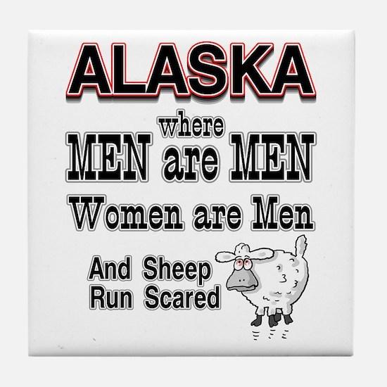 women are men Tile Coaster