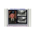FREE Bradley Manning Rectangle Magnet