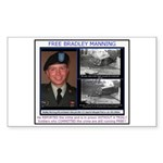 FREE Bradley Manning Sticker (Rectangle 10 pk)