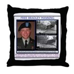 FREE Bradley Manning Throw Pillow