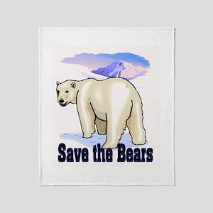 save bears Throw Blanket