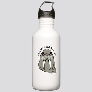 walruses need love too Stainless Water Bottle 1.0L