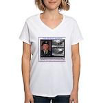 FREE Bradley Manning Women's V-Neck T-Shirt