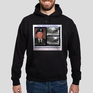 FREE Bradley Manning Hoodie (dark)
