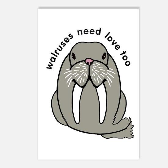 walruses need love too Postcards (Package of 8)