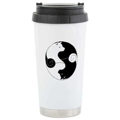 Ying Yang Akita Stainless Steel Travel Mug