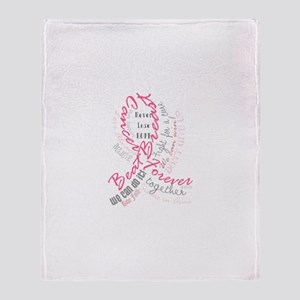 Beat Breast Cancer Typography Throw Blanket