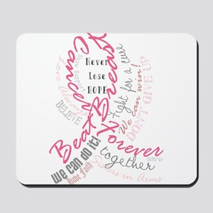 Beat Breast Cancer Typography Mousepad