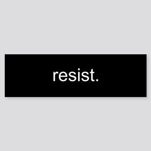 resist - Black Sticker (Bumper 50 pk)