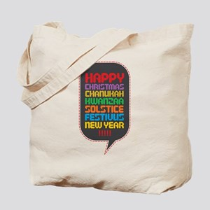 Happy PC Holiday tote bag