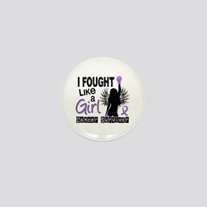 Fought Like A Girl Hodgkin's Lymphoma Mini Button