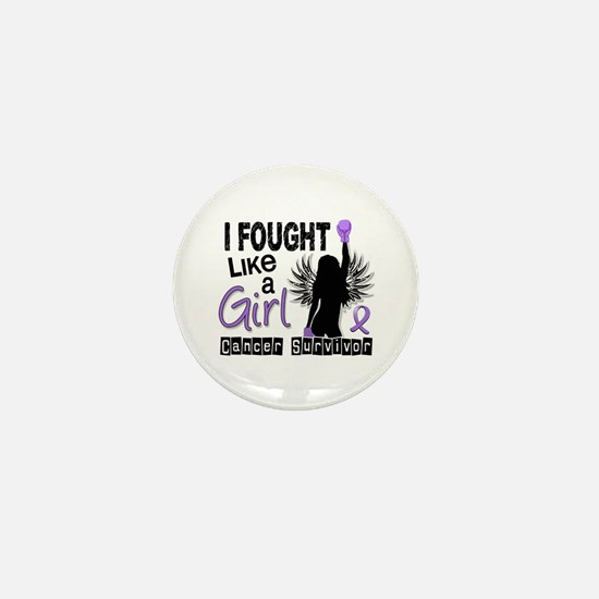 Fought Like A Girl Hodgkin's Lymphoma Mini Button