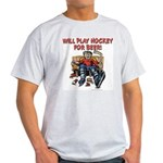 Hockey for Beer Ash Grey T-Shirt