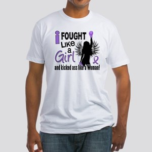 Fought Like A Girl Hodgkin's Lymphoma Fitted T-Shi