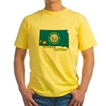 ILY South Dakota Yellow T-Shirt