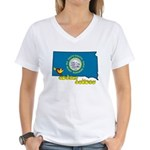 ILY South Dakota Women's V-Neck T-Shirt